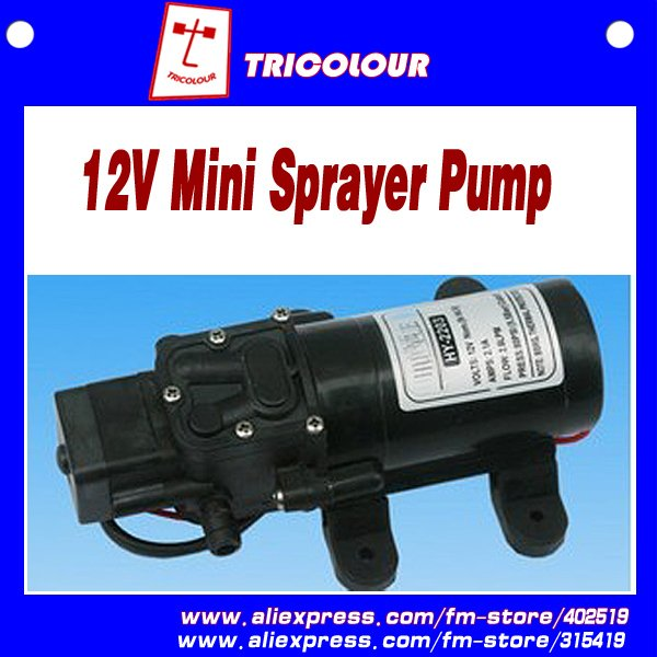Powerful Mini Car washing pump cleaning device DC 12V 3-4L/MIN Black 1KG #D07010(China (Mainland))