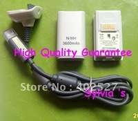 Free shipping BATTERY PACK + CHARGER FOR XBOX 360 SLIM 3600mAh NEW