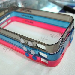 5PCS/LOT Fashion Mycover Case Bumper Frame Case for Apple iPhone 4 4G IP-414(China (Mainland))