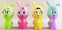 60pcs/lot Lovely rabbit shape Mini battery Fan mini portable Cooling fan Novelty Gifts