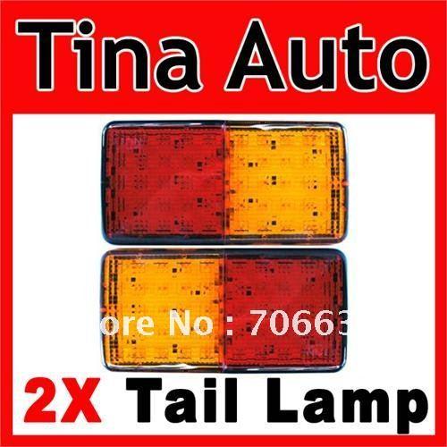 2X 12V TRUCK Tail Lamp Rear Ligh LED Brake + INDICATOR(China (Mainland))