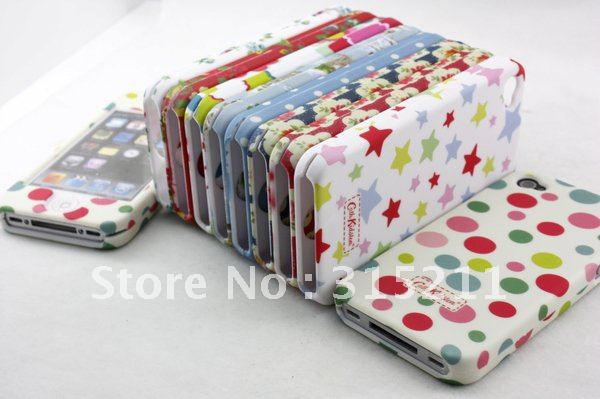 10 pieces / lot,New Flower pattern cell phone case for iphone 4/4G,2011 Fashion Designs,Free Shipping(China (Mainland))