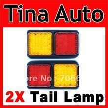 2X 12V Tail Light Rear Lamp LED Brake & Indicator TRUCK(China (Mainland))