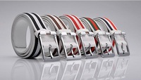 Мужской ремень mens belt casual fashion leather belts solid color All-match Belts Mens Waistband retail white/black/brown D24