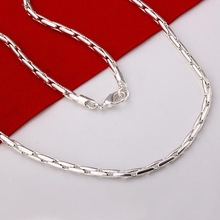 Necklace New! 925 sterling silver men's jewelry necklace / 925 silver necklace Free shipping Wholesale LKN283