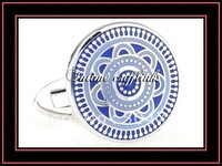 intime fashion shipping free classic sell cheap good quality compass rose enamel cufflinks(7331)