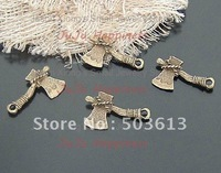 Fashion 50pcs 28*16mm Alloy Pendant Bronze Plated Axe Pendant Free Shipping ap1150