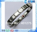 Anion Energy Bracelet 5 germaniums, 5 far inrared stones stainless steel material Healthy Bracelets SR-003e