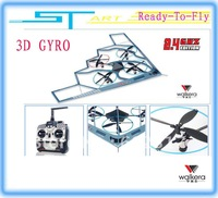 Walkera UFO-B2 2.4GHz RTF RC UFO B2 Heli + WK-2402 TX RC 3D Gyro UFO ready to fly helicopter airplane + free shipping fee