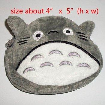 NEW!  My Neighbor Totoro plush wallet purses bag coins bag (5pc lot)b0117