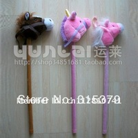 Stick horse, music horse, horse head, plush horse