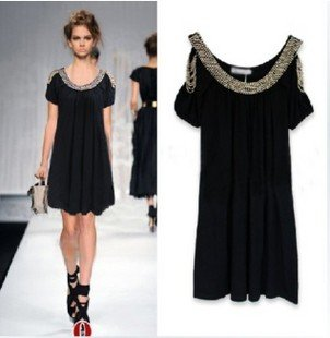 Denim Dress on Dress Vintage Black Lace Embroidery Evening Dresses   Women Dress