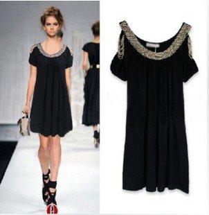 Denim Dress on Dress Vintage Black Lace Embroidery Evening Dresses   Women Dress