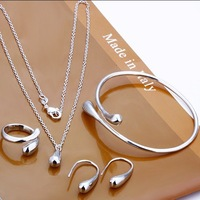 GSSPS0222/Free Shipping,wholesale silver jewelry set,fashion jewelry, high quality,Nickle free antiallergic, factory price