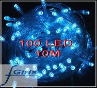 Blue 100 LED 10M christmas wedding String Fairy Lights Christmas led light,10pcs/lot,free shipping
