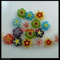 FREE SHIPPING 200pcs/lot 13x12mm millefiori beads jewelry findings wholesale
