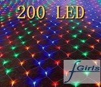 Color 200 LED BIG NET light for wedding Party garden decorate ,Christmas LED light 2mx3m,10pcs/lot