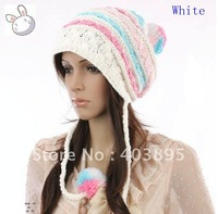 Free shipping(20pcs)Wholesale Fashion Earflap Women Warm Wool Cap+Top Quality With 4 Colors Hat For Promotion