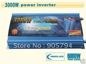 High Quality 3000 Watt Power Inverter DC 12V to AC 110V