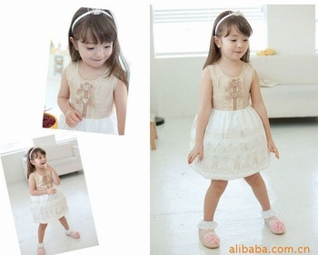 10/lot High Fashion baby and Kids Dress,Overrun Dress, baby and kids clothing,children's wear/dress/clothes colorful