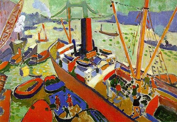Pool of London Andre Derain 100% Hand Painted Oil Painting Repro Museum Quality Gift(China (Mainland))