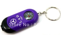 pocket mini compass keychain, promotional gift/ brand car key chain compass,compass key ring with LED,camping compass tools