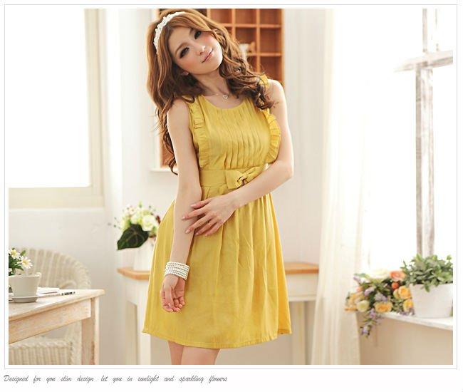 Noeud ébouriffé robe dame robe de cocktail robe de soirée jaune