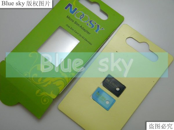 micro sim adapter 200pcs * 2 = 160pcs with retail packing many colors free shipping by DHL(China (Mainland))