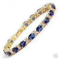 Superb Jewelry Natural Gorgeous amethyst 14 K GOLD Bangle bracelet shipping free b-16