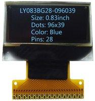 0.83 inch Blue 96x39 Internal DC-DC OLED screen OLED