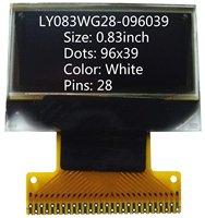 0.83 inch White 96x39 Internal DC-DC OLED screen OLED display