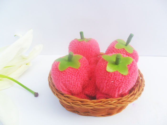 Article Towel, Cake Towel, promotion gifts, cherry/strawberry basket, for weddings, birthday, freeshipping!!!new arrival(China (Mainland))