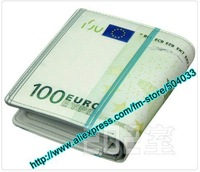 Hot Sale The new limited edition 100 euros Ray wallet, PU wallet, Humor novel gift for birthday gift