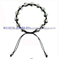 fashion jewelers silver  plastic knotted cord  bead  bracelet