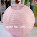 Free shipping 12&#39;&#39; chinese Paper Lantern lights large size pink color for weding party christmas favors decorations
