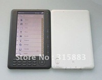 "7"" eBook Reader RockChip2729 Color C-Paper LCD FM MP4 MP5 4GB Black/White"