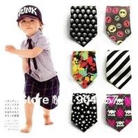 Baby Toddler Boy Necktie Tie Infants Skinny tie Dye Stripe Grid Fashion gentleman 2-6 years old