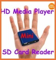 MINI 1080P Full HD Media USB HDD player With SD/MMC card reader, 1pcs/lot