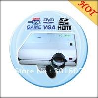 NEW PORTABLE MINI-LED VIDEO PROJECTOR DVD TV USB VGA SD HDMI 2400Lumens 800*600 XC-VP326