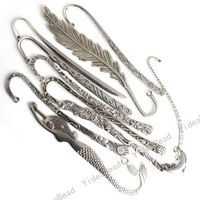 Free Shipping 20pcs Mixed Assorted Tibetan Silver Bookmarks With Loop Design 160319