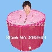 Plastic portable bathtub