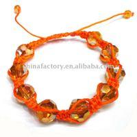 fashion handmade faced round green crystal most popular shamballa bracelet