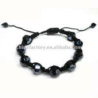 fashion handmade faced round crystal shamballa bracelet