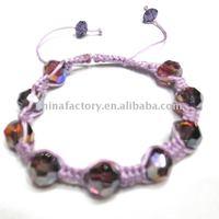 fashion handmade faced shamballa crystal ball bracelet