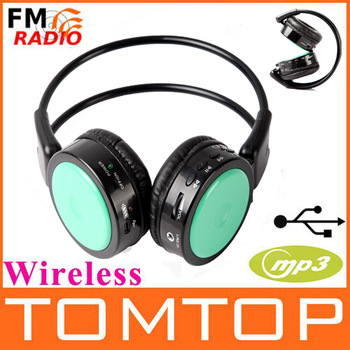 wireless Headphones Stero Wireless earphones FM SD/TF Music MP3 Player wireless headsets retail and wholesale Free shipping