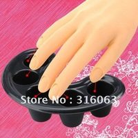 FREE shipping Nail Art Tool -  Nail Bubble Bath Spa Bowl Black Nail Soak Off Tray  NA223