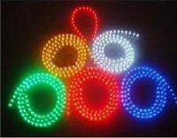 Wholesale & free shipping: 200pcs/lot red/green/blue Car Flexible Strip Light 48CM 48 Led pvc