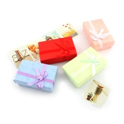 Free shipping ,jewelry packing box,apply to pendant+ring +earring box,mix colors,48 piece/lot(China (Mainland))