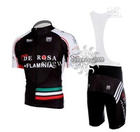Free Shipping!! MEN'S CYCLING JERSEY+BIB SHORTS BIKE SETS CLOTHES 2011 FLAMINIA -BLACK-SIZE:XS-4XL