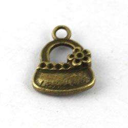FREE SHIPPING 360PCS Antiqued bronze handbag Charms 20x14mm A13356B